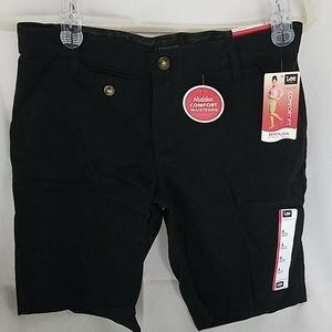 NWT Lee Black Comfort Fit Bermuda Shorts Sz 4